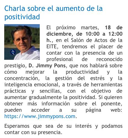 Charla Mindfulness Ejecutivo universidad Las Palmas